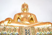Golden Buddha meditation pagoda — Stock Photo
