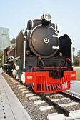 Locomotive is on display in the park at Siriraj Hospital — Stock Photo