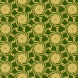 Постер, плакат: Gold Cyclone on Green Pattern