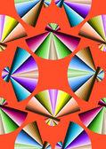 Fan colorful pattern — Stock Vector