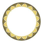 Thai style complex circle frame — Vector de stock