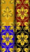 Gouden Vuur patroon — Stockvector