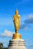 Behind of golden buddha statue — Foto de Stock