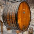 Stock Photo: Ancient wine cask in cellar