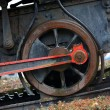 Stock Photo: Ancient wheel steam locomotive