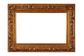 Empty picture frame isolated on white — Stockfoto