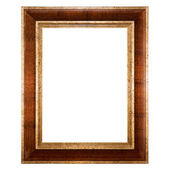 Empty picture frame isolated on white — Stock Photo