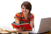 Yong student woman whit book — Stock Photo