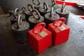 Set Calibration weights — Stock Photo