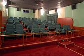 VIP Hall of a cinema and lines of green armchairs — ストック写真