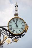 Ancient street clocks — Stock Photo