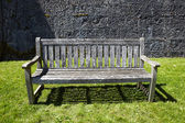 Vintage wooden garden bench — Stock Photo