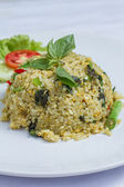 Riz frit au poulet au curry vert — Photo