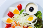 Boiled egg salad — Stock Photo