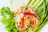 Papaya salad — Stock Photo