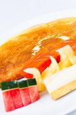 Mezcla de frutas crepé — Foto de Stock