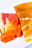 Mix fruit Crepe — Stock Photo