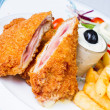 Foto Stock: Pork cordon bleu