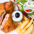 Stockfoto: Pork cordon bleu