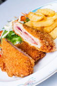 Pork cordon bleu — Stock Photo