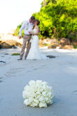 A couple wedding on the beach — Stock Photo