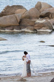 Married couple on the beach — Stock Photo