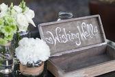 Detalhe de instalação do casamento — Foto Stock