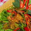 Stir fried fish and curry paste — Stock Photo #37950537