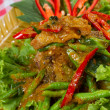 Stir fried fish and curry paste — Stock Photo #37950597