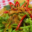 Stock Photo: Stir fried fish and curry paste