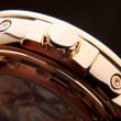 Luxury gold watch swiss made — Стоковое фото