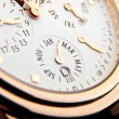 Luxury gold watch swiss made — ストック写真