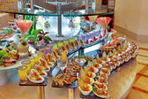 Buffet with different appetizers — Stock Photo