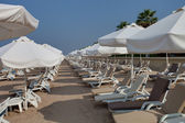 Empty hotel beach — Foto Stock