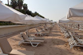 Empty hotel beach — Foto de Stock