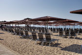Empty hotel beach — Stockfoto