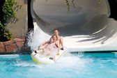 Family in water park — Stock Photo