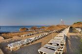 Empty hotel beach — Stock Photo