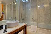 Bathroom in hotel — Stock Photo