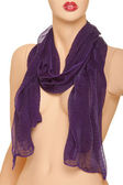 Mannequin with violet scarf — Photo
