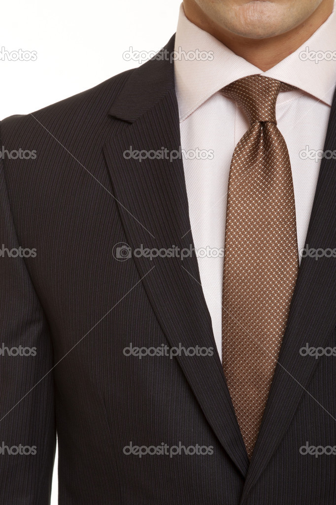 Black suit with Brown tie — Stock Photo © sandr2002 #39972147