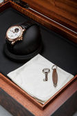 Luxury watch with box swiss made — ストック写真