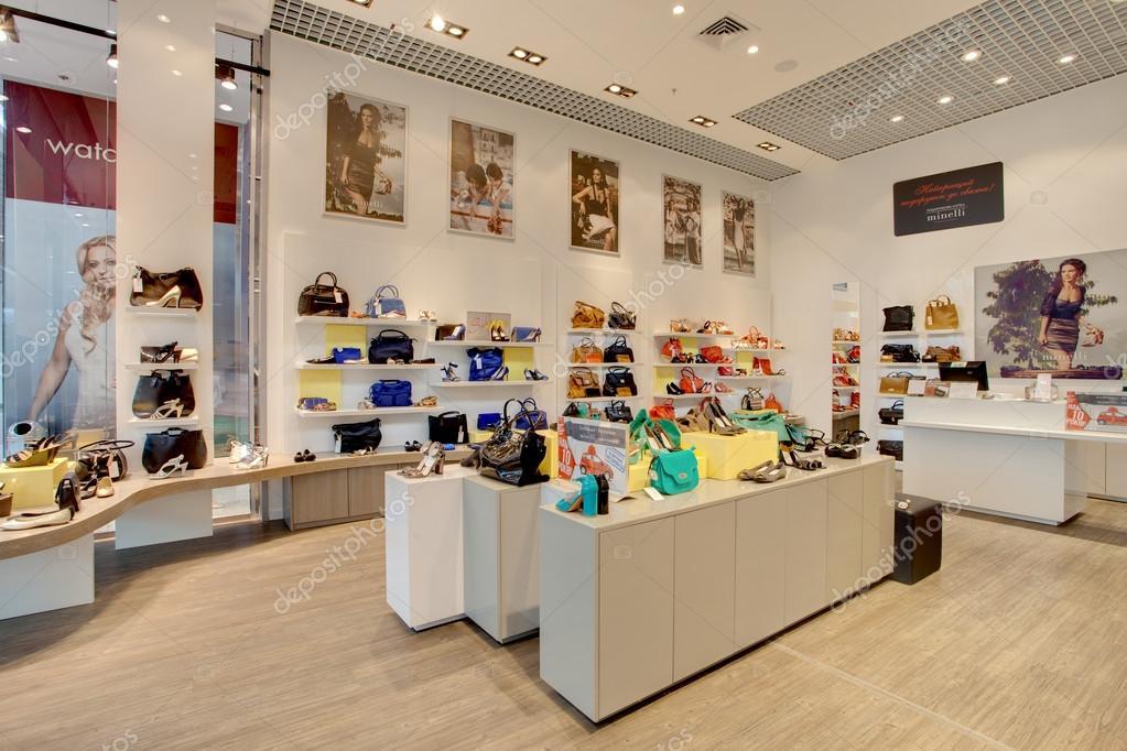 Lot of women shoes in Minelli shop