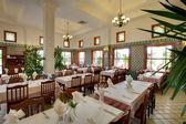 Restoranda yan konut kompleksi — Stok fotoğraf