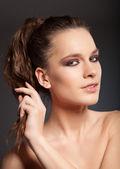 Woman with evening makeup — Foto Stock