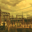 Stockfoto: Line of electricity transmission 3
