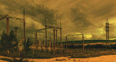 Line of electricity transmission 1 — Foto Stock