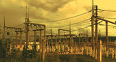 Line of electricity transmission 3 — Foto Stock