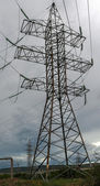 Line of electricity transmission — Stock Photo