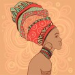 African woman in turban — Vector de stock #37518217